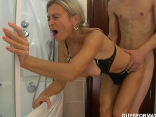 Horney housewife mature