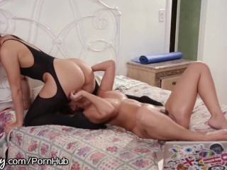 Crazy mom naked party slut load
