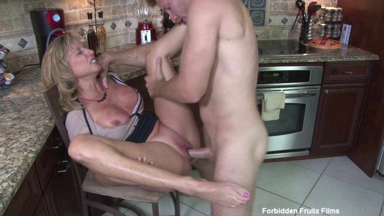 Horny wife rebecca more gets a hardcore pussy mouth fucking in the kitchen