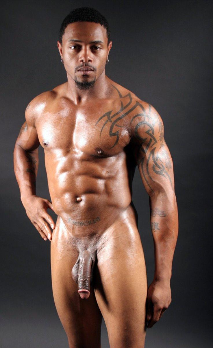 Nude black straight male models