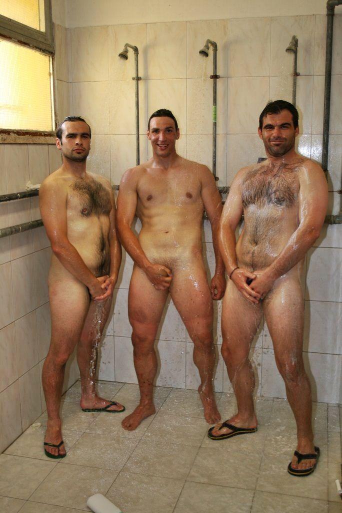 Straight marines nick brennan in the shower