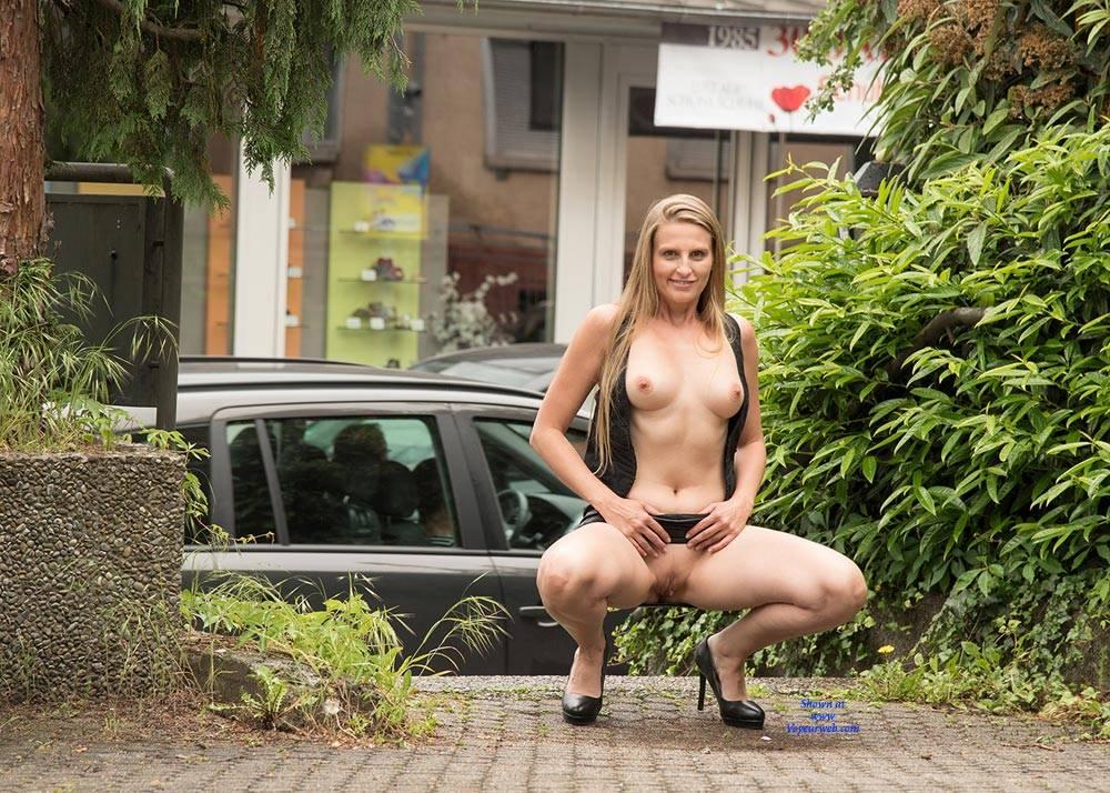 Nude spreading legs